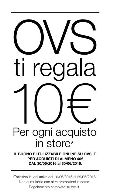 OVS ti regala 10€!!